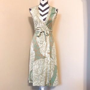 Elie Tahari Printed Wrap Dress